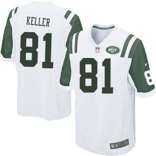 Jersey New York Jets #81 Game White NFL Jersey