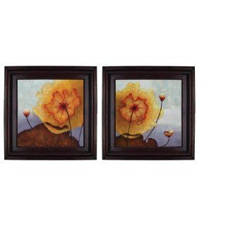 2 Piece Set Framed Oil Painting on Canvas   In Bloom