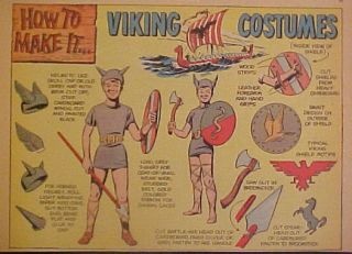 1954 How to Make It Viking Costumes Cartoon Comic Strip Animation Art