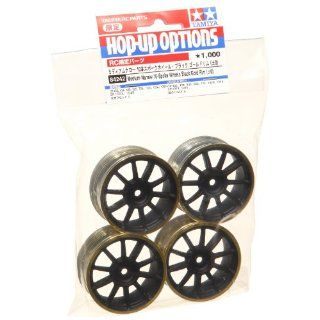 Tamiya 84242 Medium Narrow 10 SP Wheels Black/Gold Rims/0