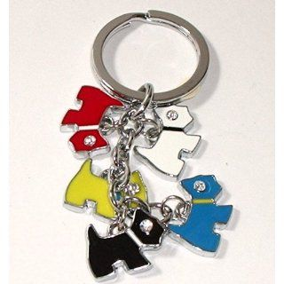 Scottish Terrier Dog Charms Keychain Key Chain Ring