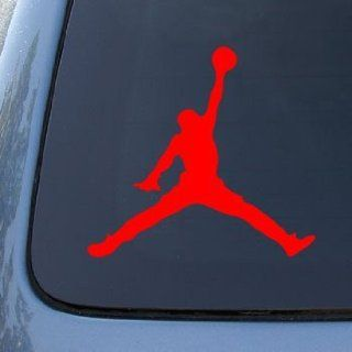 MICHAEL JORDAN AIR   Vinyl Car Decal Sticker #A1624  Vinyl Color Red
