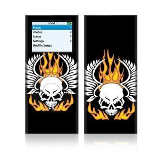 Flame Skull Skin Decal Sticker for Apple iPod Touch 2G