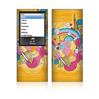 I Love Ice Cream Skin Decal Sticker for Apple iPod Nano 4G