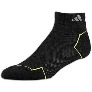 adidas Climacool II Low Cut 2 Pack Socks   Mens   Black/Slime/Medium