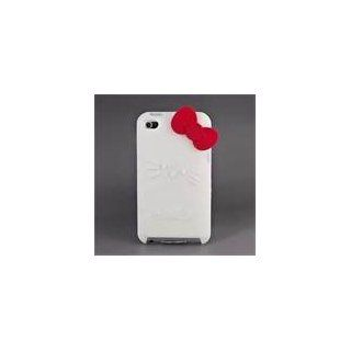 Hello kitty White Soft Silicone With Red Bow Case Cover