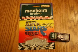 MATCHBOX WHITE ROSE COLLECTIBLES HARRY GANT AUTOGRAPHED MANHEIM