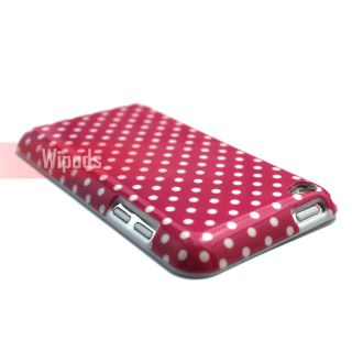 Polka Dots Hard Pink Case Cover Skin for iPod Touch 4 4th Gen