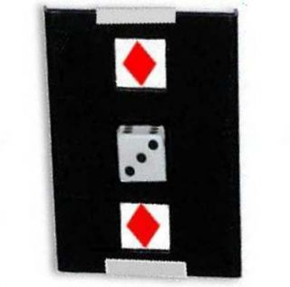 Tricks Co Japan Dice Through Card Close Up Examinable Magic Trick Very