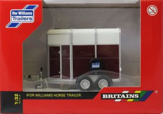 Britains Ifor Williams Horse Trailer 1 32 Diecast Farm Model 42328
