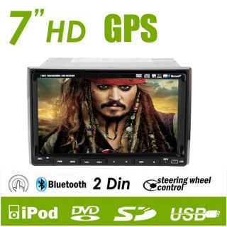 3D Pip Double DIN 2 in Dash Car DVD Player GPS iPod VFT