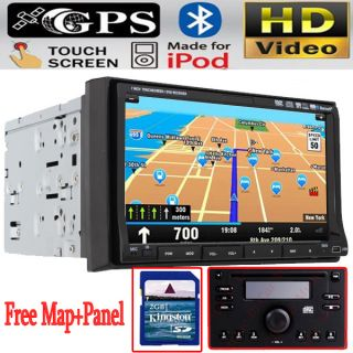 Touch Screen Car Stereo DVD Player GPS Navigation in Dash Deck