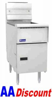 New Pitco Heavy Duty 40 50 lb Gas Deep Fryer SG14S 110 000 BTU