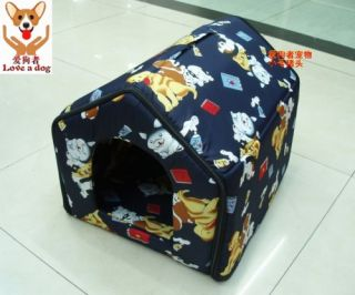 New Indoor Pet Dog Cat House Tent Collapsible Med Size