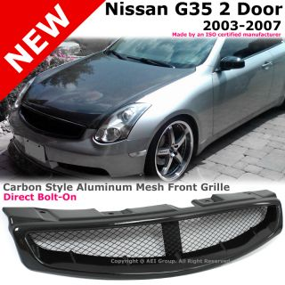 Infiniti G35 03 07 Coupe Carbon Fiber Style Skyline Sport Mesh Front
