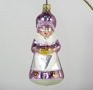 Inge Glas OLD WOMAN GRANDMOTHER Lavender Xmas Tree Ornament German NWT