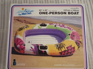 PERSON VINYL INFLATABLE BOAT 62 X 40 FOR POOL, BEACH ,OR THE LAKE