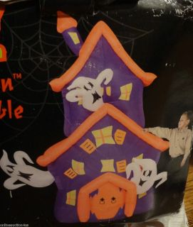 NEW GEMMY AIRBLOWN INFLATABLE HALLOWEEN HAUNTED HOUSE WITH GHOSTS