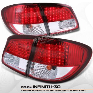 2000 2001 JDM Infiniti I30 I 30 LED Tail Lights Lamps
