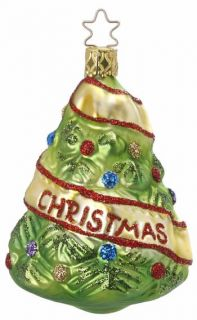 Inge Glas Our First Christmas German Blown Glass Wedding Tree Ornament