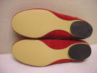 Sz 9 5 M Isaac Imzrahi Suede Leather Flat Shoes Cute