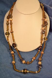 Italian Art Glass Bead Necklace 48