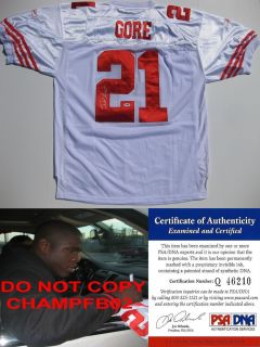 FRANK GORE SAN FRANCISCO 49ERS SF SIGNED AUTOGRAPHED AUTHENTIC JERSEY