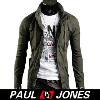 Men's Stylish Slim Fit Jackets Winter Casual Coats Winter Hoody Blk