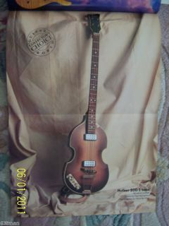 GUITAR WORLD POSTER MAGAZINE APRIL 1989 JACK BRUCE HOFNER 500 1 BASS