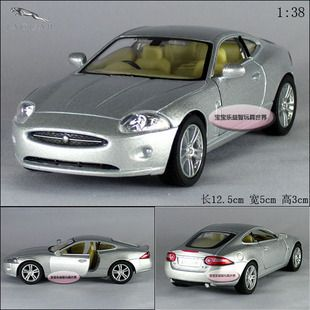 New Jaguar XK Coupe 1 38 Alloy Diecast Model Car Silver B399