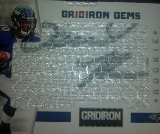 2012 Gridiron Gear Bernard Pierce RC Gridiron Gems Auto SP #295/299