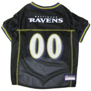 Pets First Dog NFL Baltimore Ravens Football Jersey Small 8 12
