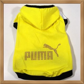 Small Dog Clothing Puma Hot Fix Costume Jersey Coat C32