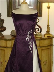 283 Jessica McClintock Purple Wedding Dress Floral Embroidery Cheap