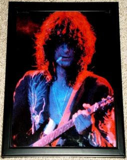 Jimmy Page LED Zeppelin Framed Live in Concert Portrait