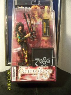 NECA LED Zepplin Jimmy Page Double Guitar Zoso Drago 7 Figure New