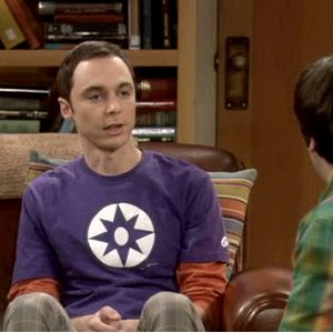 Sheldons Violet Lantern Big Bang Theory T Shirt