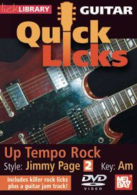 Lick Library Up Tempo Rock Jimmy Page Style Guitar DVD