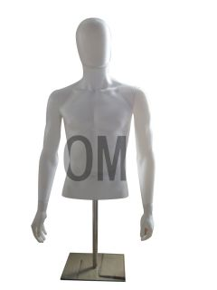 Male Mannequin Table Top Dress Form Egg Head White