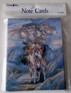 Tree Note Cards Horses Horse Jody Bergsma Indian Made in USA