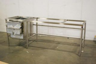 John Boos Commercial Kitchen Baker Food Prep Table SBS S12 with