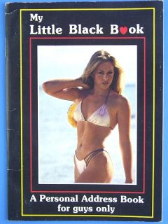 K288 Vintage My Little Black Book for Guy Personal Address 12 Pages Bikini Gag