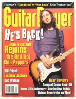 Guitar Player Magazine John Frusciante Red Hot Chili Peppers Eric Clapton RARE