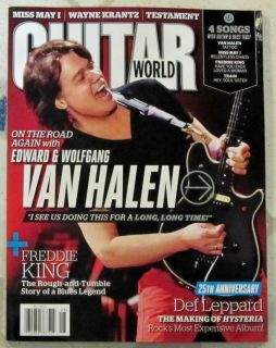 GUITAR WORLD August 2012 VAN HALEN Edward Wolfgang 25th Ann DEF LEPPARD Krantz