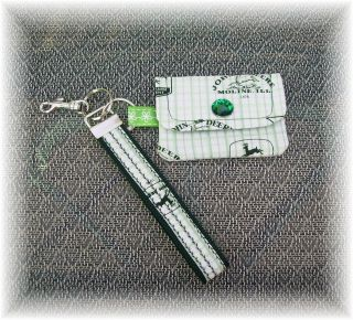 Credit Card Money Wallet Matching Wristlet Key Chain John Deere Handmade Cute