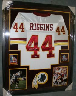John Riggins Framed Signed Washington Redskins Jersey SB MVP Autograph PSA DNA