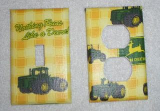 John Deere Tractor Light Switch Plate and Outlet Set