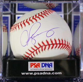 ALEX RODRIGUEZ SIGNED AUTOGRAPHED BASEBALL GRADED PSA DNA 9 J34312