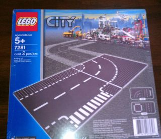New & Sealed Lego City T Junction & Curved Road Base Plates 7281 *Fast
