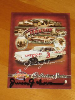 Junior Johnson Signed American Legend Collector Series NASCAR Card JSA